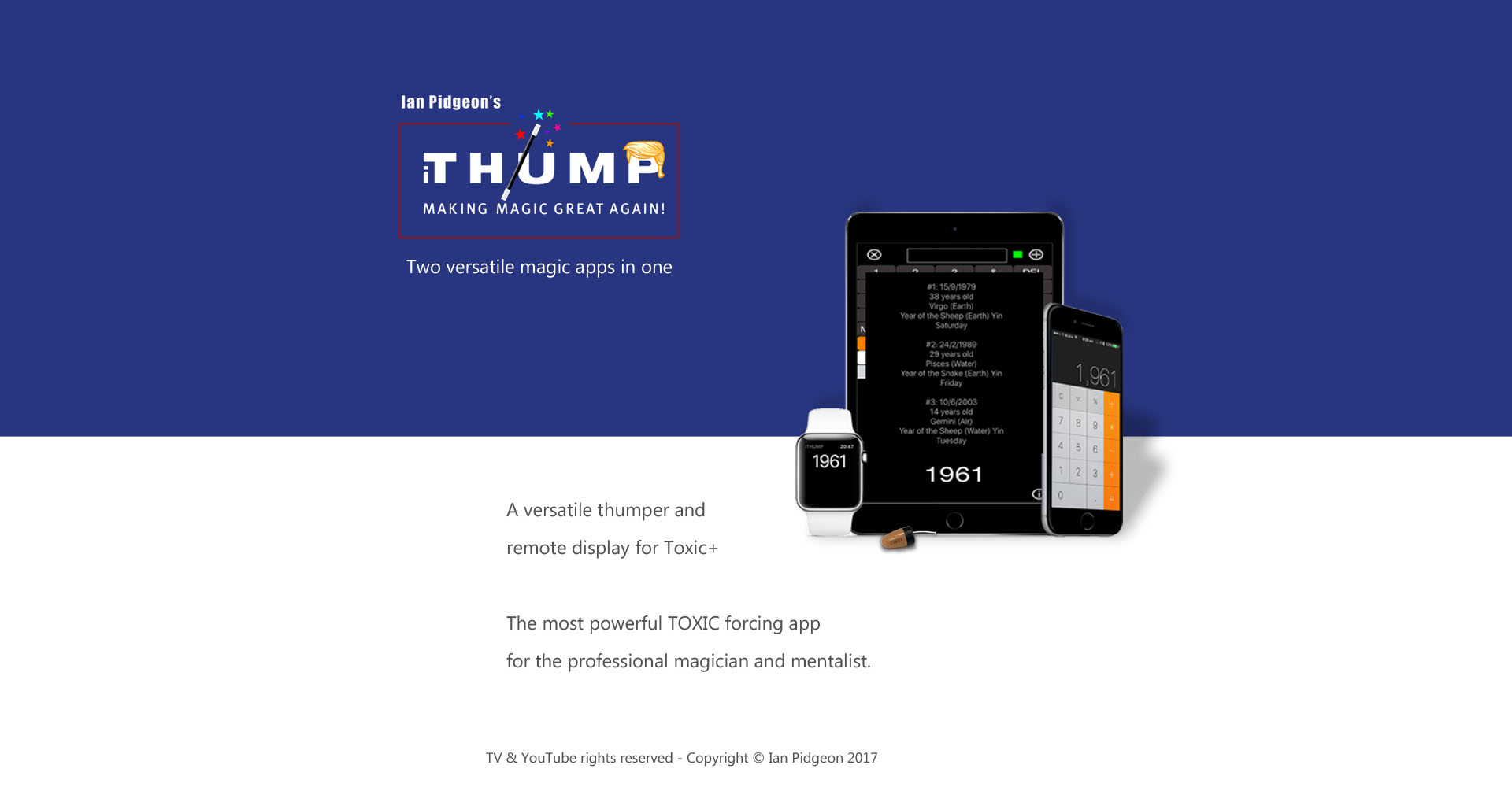 The iThump/Toxic+ Magic App for iOS